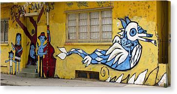 Street Art Valparaiso Chile 12 Canvas Print by Kurt Van Wagner