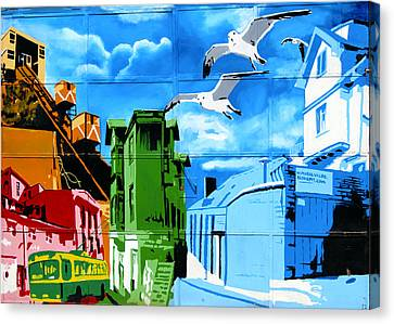 Street Art Valparaiso Chile 15 Canvas Print by Kurt Van Wagner