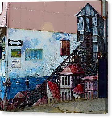 Street Art Valparaiso Chile 17 Canvas Print by Kurt Van Wagner