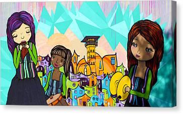 Street Art Valparaiso Chile 18 Canvas Print by Kurt Van Wagner