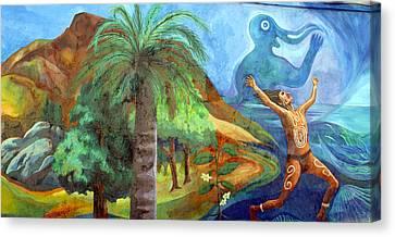 Street Art Valparaiso Chile 4 Canvas Print by Kurt Van Wagner