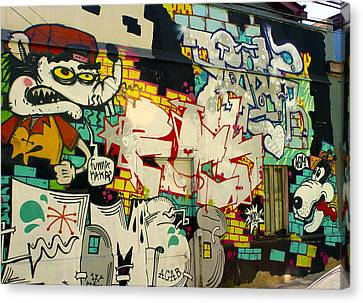 Street Art Valparaiso Chile 6 Canvas Print by Kurt Van Wagner