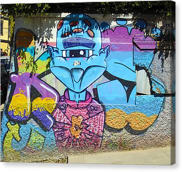 Street Art Valparaiso Chile 9 Canvas Print by Kurt Van Wagner