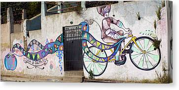 Street Art Valparaiso Chile Canvas Print by Kurt Van Wagner