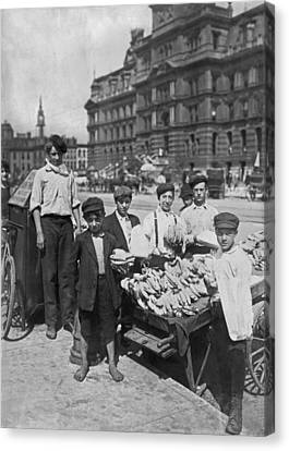 Street Banana Vendor Boys Canvas Print