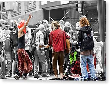 Street Band Canvas Print by Ted Guhl