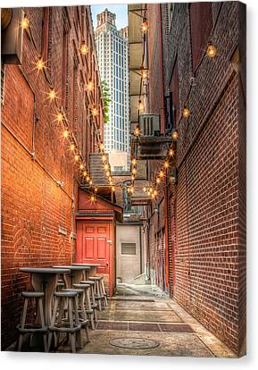 Canvas Print featuring the photograph Street Cafe by Anna Rumiantseva