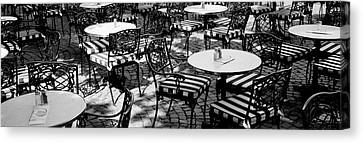 Street Cafe, Frankfurt, Germany Canvas Print by Panoramic Images