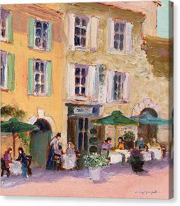 Street Cafe Canvas Print by J Reifsnyder