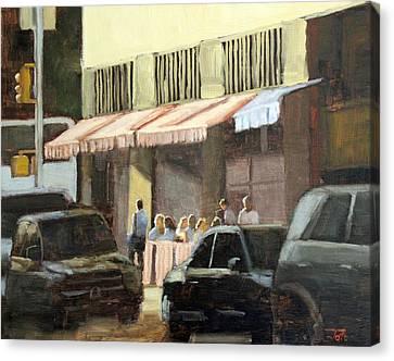 Street Cafe Canvas Print