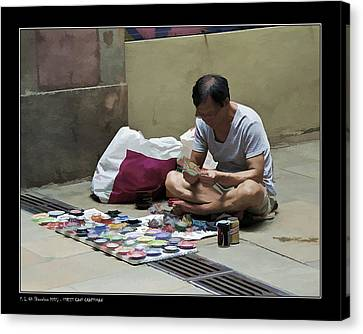Street Cans Craftsman Canvas Print by Pedro L Gili