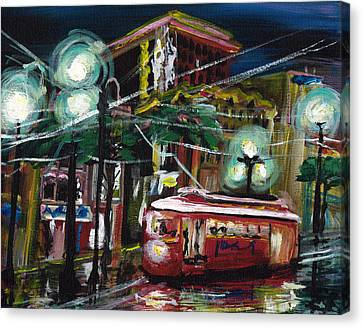 Street Car Canvas Print by Gretchen  Smith