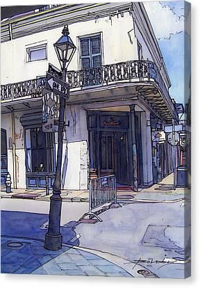 Street Corner 214 Canvas Print by John Boles