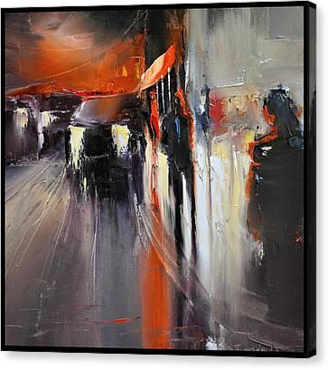 Street Canvas Print by David Figielek