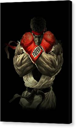 Gloves Canvas Print - Street Fighter by Movie Poster Prints