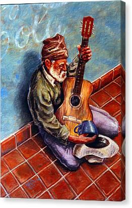 Street Guitar    Canvas Print by Dan Terry