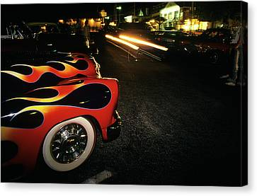 Copy Machine Canvas Print - Street Hot Rods Flames Whitewall Tires by Vintage Images