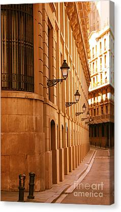 Street In Barcelona Canvas Print by Sophie Vigneault