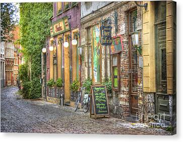 Medieval Canvas Print - Street In Ghent by Juli Scalzi