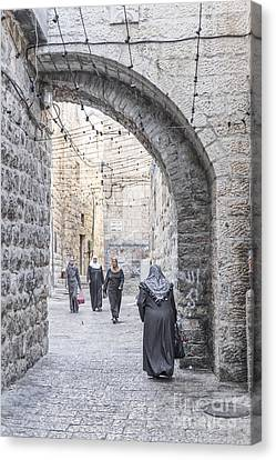 Street In Jerusalem Old Town Israel Canvas Print