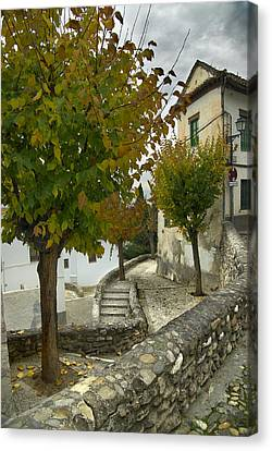street in old Albaycin in Granada Canvas Print by Guido Montanes Castillo