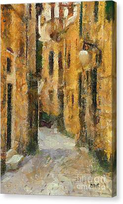 Food And Beverage Canvas Print - Street In The Old Town by Dragica  Micki Fortuna