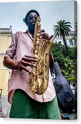 Street Jazz On Display Canvas Print