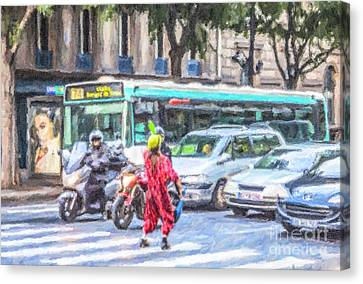 Street Juggler Canvas Print by Liz Leyden