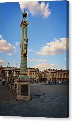 Street Lamps - Place De La Concorde Canvas Print by Maria Angelica Maira
