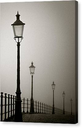 Street Lamps Canvas Print by Dave Bowman