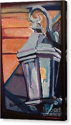 Canvas Print featuring the painting Street Lantern by Ecinja Art Works