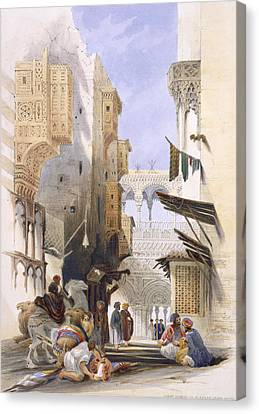 Camel Canvas Print - Street Leading To El Azhar, Grand by A. Margaretta Burr