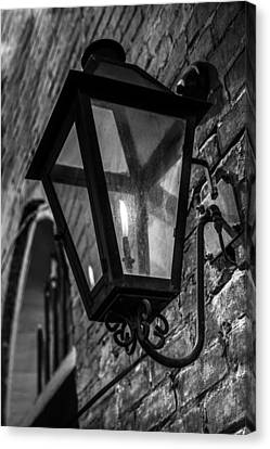 Street Light In Black And White Canvas Print by John McGraw