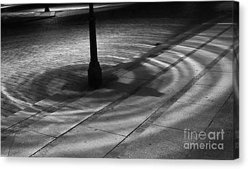 Canvas Print featuring the photograph Street Light by Inge Riis McDonald