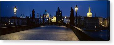 Street Light On A Bridge, Charles Canvas Print by Panoramic Images