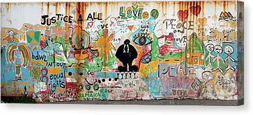 Street Mural At Liguanea Canvas Print by Laurel Talabere