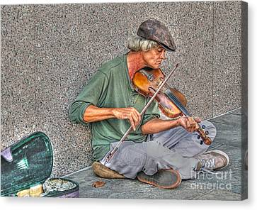 Street Music Canvas Print by Kathy Baccari