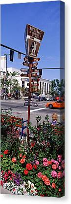 Street Name Signs At The Roadside Canvas Print by Panoramic Images