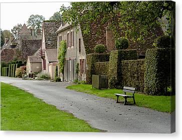 Street Of Apremont-sur-allier Canvas Print