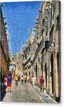 Street Of Knights Canvas Print by George Atsametakis