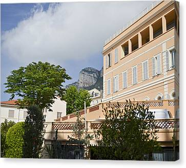 Canvas Print featuring the photograph Street Of Monaco by Allen Sheffield