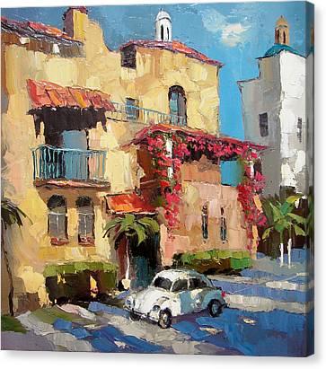 Street Of Playa Del Carmen Canvas Print by Dmitry Spiros