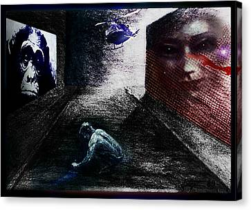 Street  Painter  Dreaming Canvas Print by Hartmut Jager