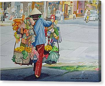 Street Peddler Canvas Print