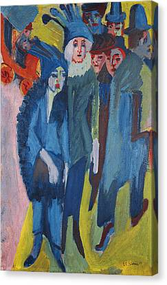 Street Scene Canvas Print by Ernst Ludwig Kirchner