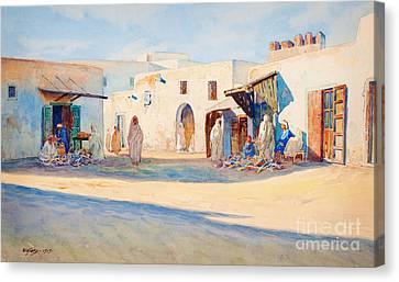 Street Scene From Tunisia. Canvas Print by Celestial Images