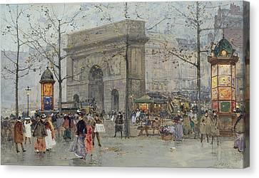 Street Scene In Paris Canvas Print