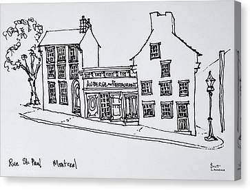 Street Scene Of Rue St Canvas Print
