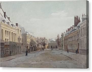 Street Scene Canvas Print by Henri Duhem