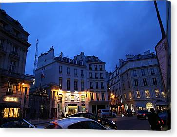 Street Scenes - Paris France - 011337 Canvas Print by DC Photographer